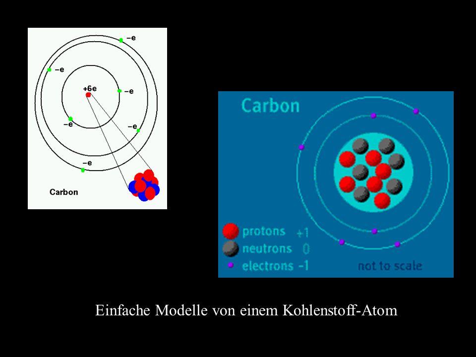 Einfache Modelle von einem Kohlenstoff-Atom