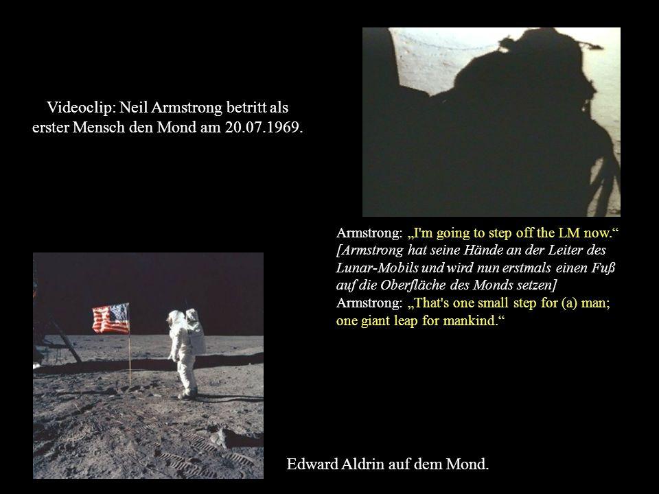 Edward Aldrin auf dem Mond.
