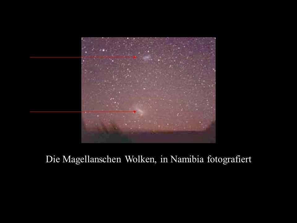 Die Magellanschen Wolken, in Namibia fotografiert