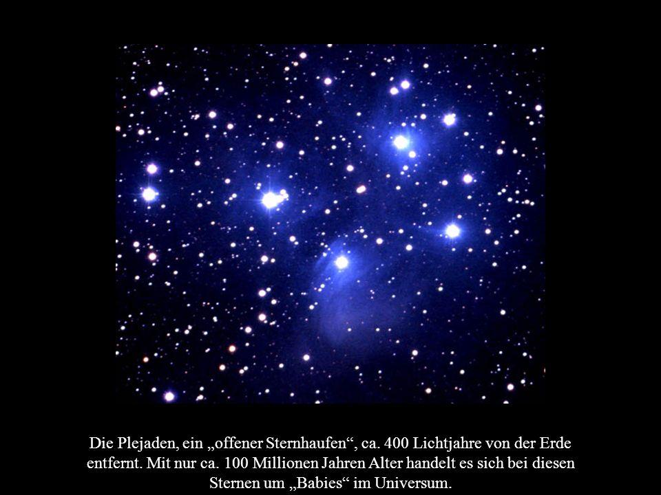 """Die Plejaden, ein """"offener Sternhaufen , ca"""