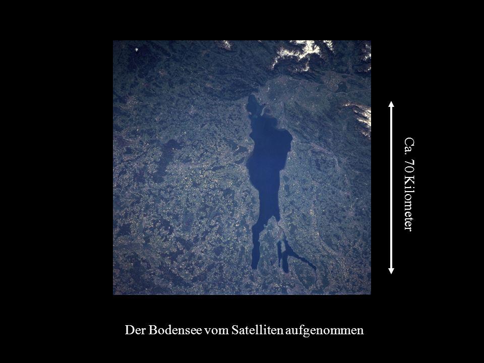 Der Bodensee vom Satelliten aufgenommen
