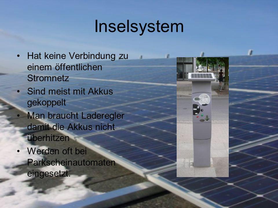 Inselsystem Hat keine Verbindung zu einem öffentlichen Stromnetz