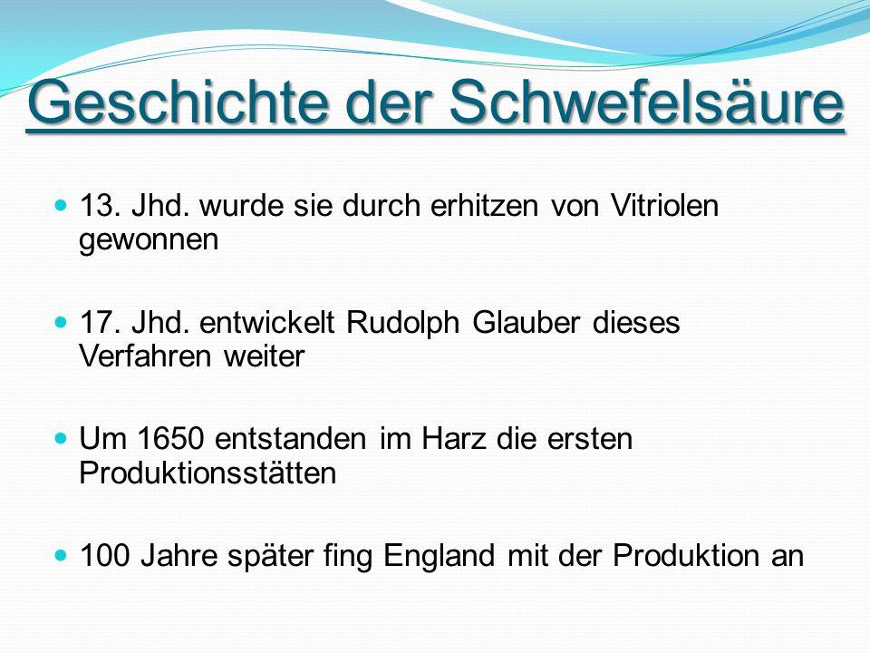 Geschichte der Schwefelsäure