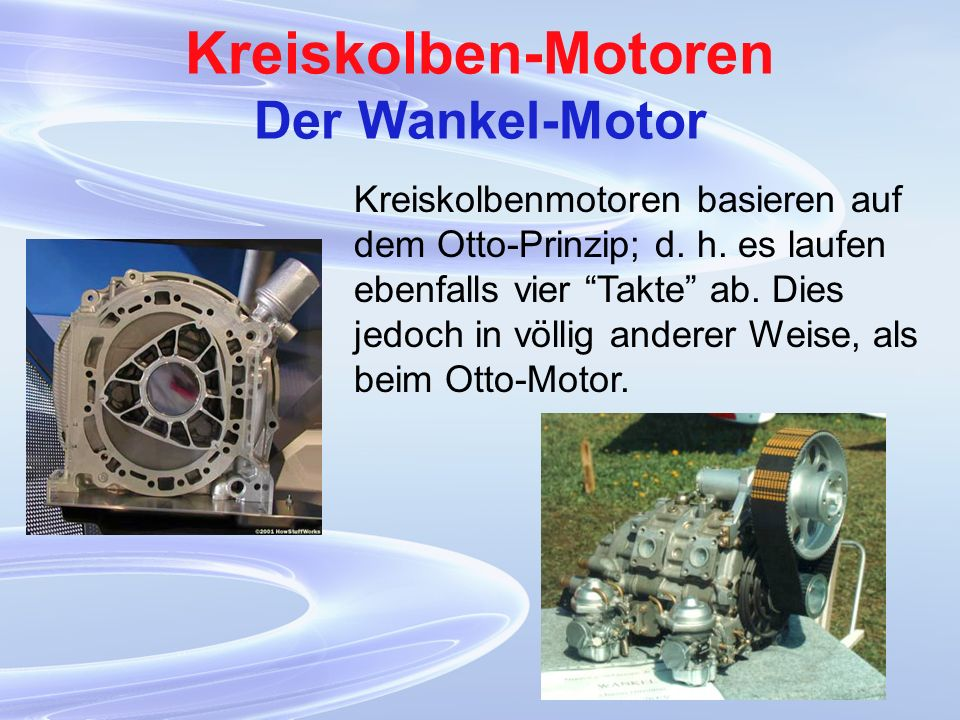Kreiskolben-Motoren Der Wankel-Motor