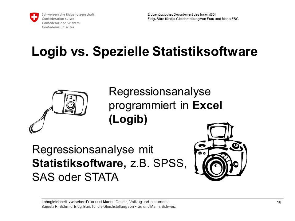 Logib vs. Spezielle Statistiksoftware