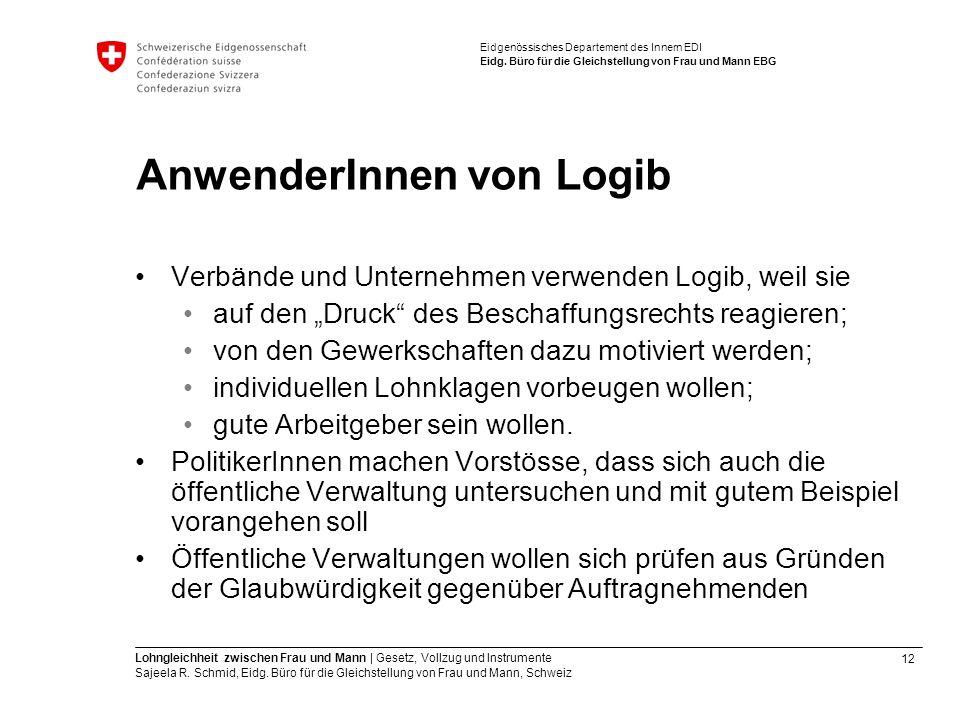 AnwenderInnen von Logib