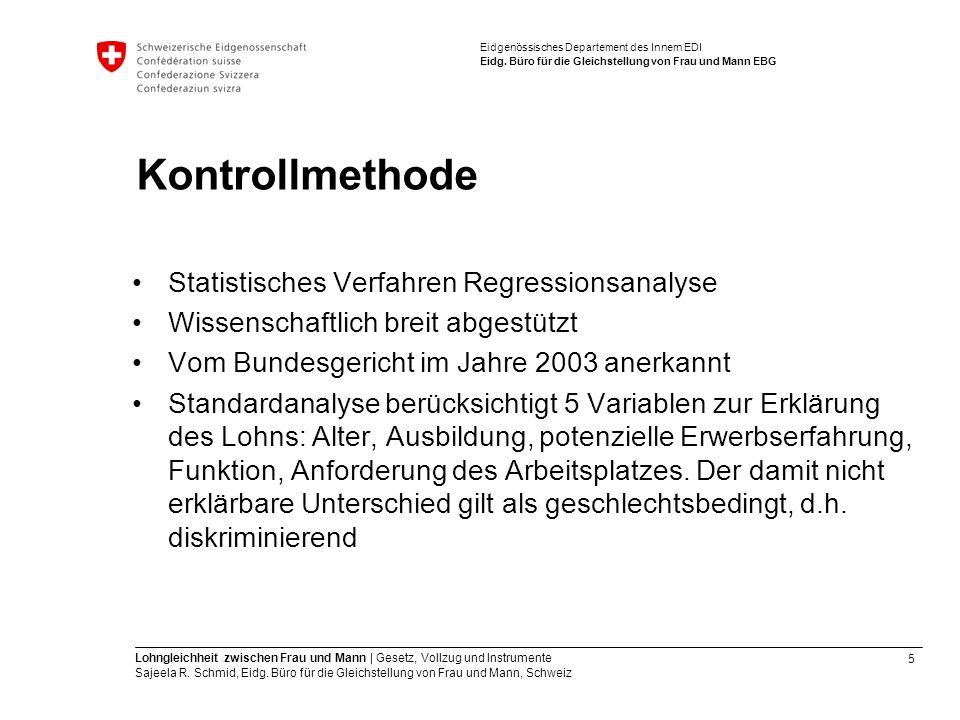 Kontrollmethode Statistisches Verfahren Regressionsanalyse