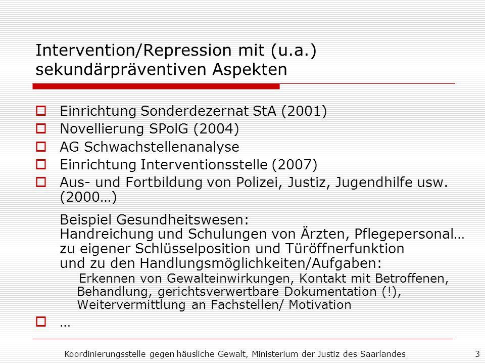 Intervention/Repression mit (u.a.) sekundärpräventiven Aspekten