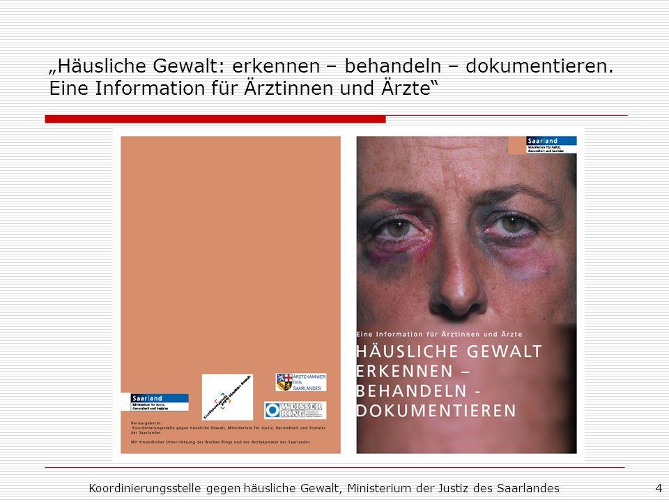 """""""Häusliche Gewalt: erkennen – behandeln – dokumentieren"""