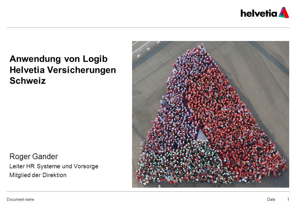 Anwendung von Logib Helvetia Versicherungen Schweiz