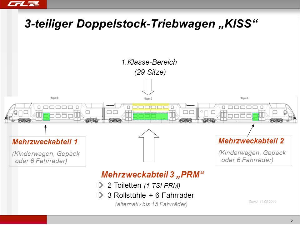 """3-teiliger Doppelstock-Triebwagen """"KISS"""