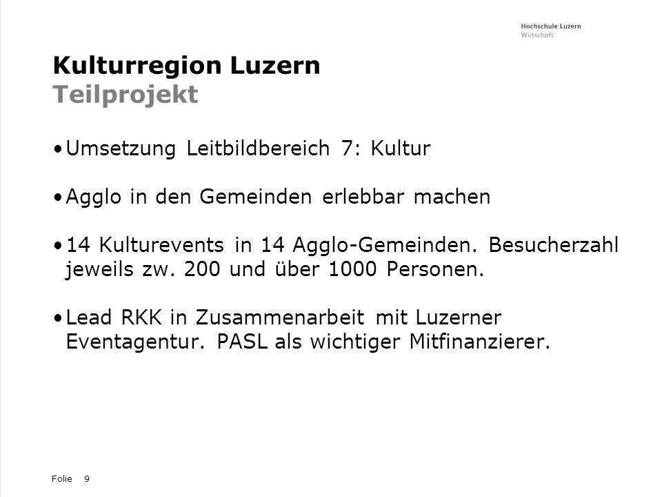 Kulturregion Luzern Teilprojekt