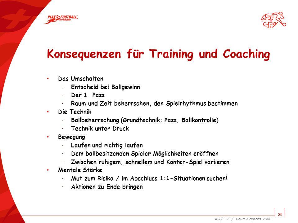 Konsequenzen für Training und Coaching