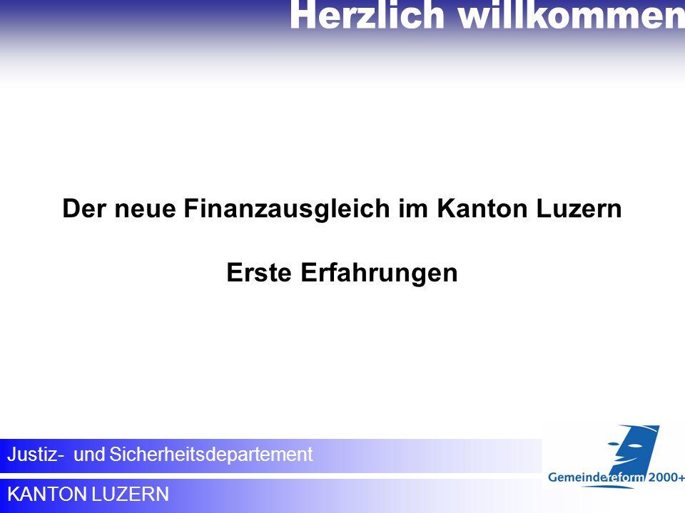 Der neue Finanzausgleich im Kanton Luzern