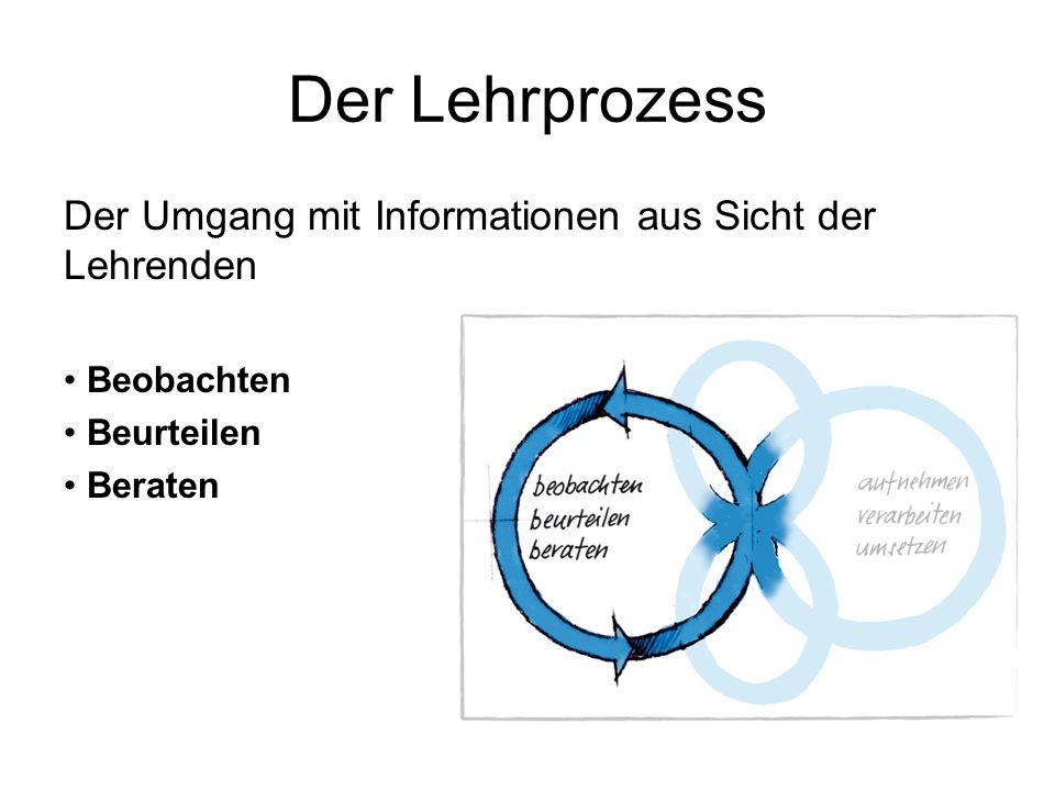 Der Lehrprozess Der Umgang mit Informationen aus Sicht der Lehrenden