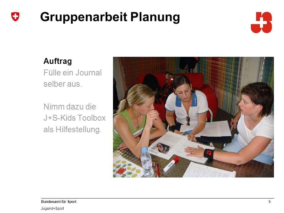 Gruppenarbeit Planung