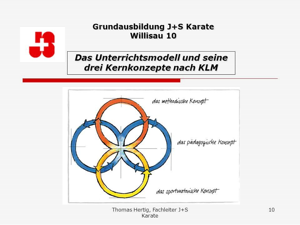 Das Unterrichtsmodell und seine drei Kernkonzepte nach KLM