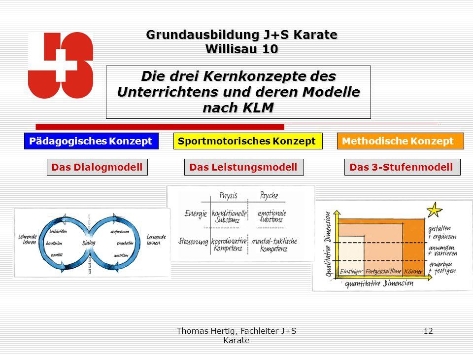 Die drei Kernkonzepte des Unterrichtens und deren Modelle nach KLM