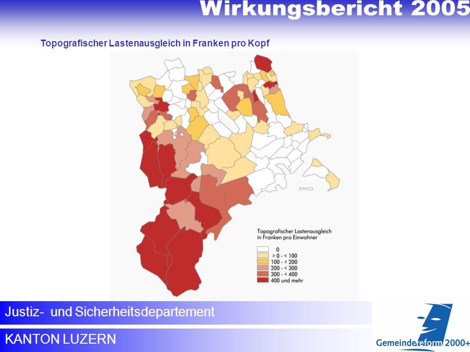 Wirkungsbericht 2005 Topografischer Lastenausgleich
