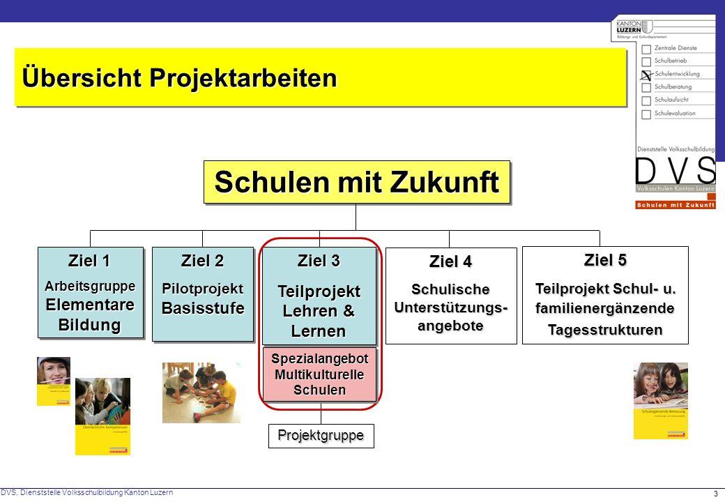 Schulen mit Zukunft Übersicht Projektarbeiten Ziel 1 Ziel 2 Ziel 3