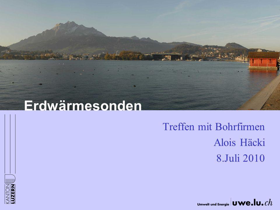 Treffen mit Bohrfirmen Alois Häcki 8.Juli 2010