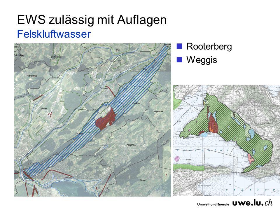 EWS zulässig mit Auflagen Felskluftwasser