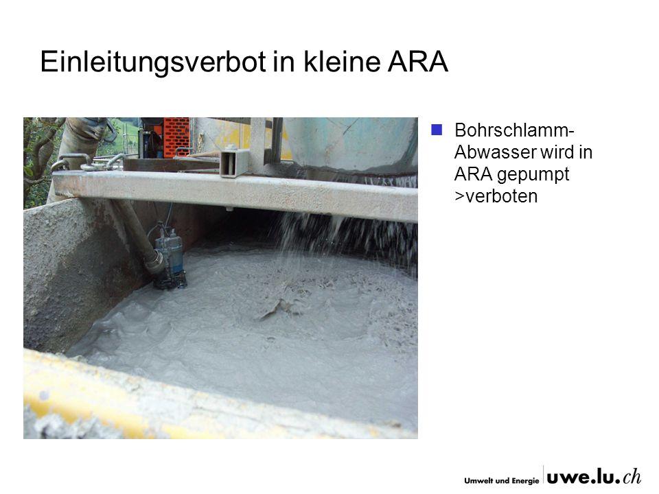 Einleitungsverbot in kleine ARA