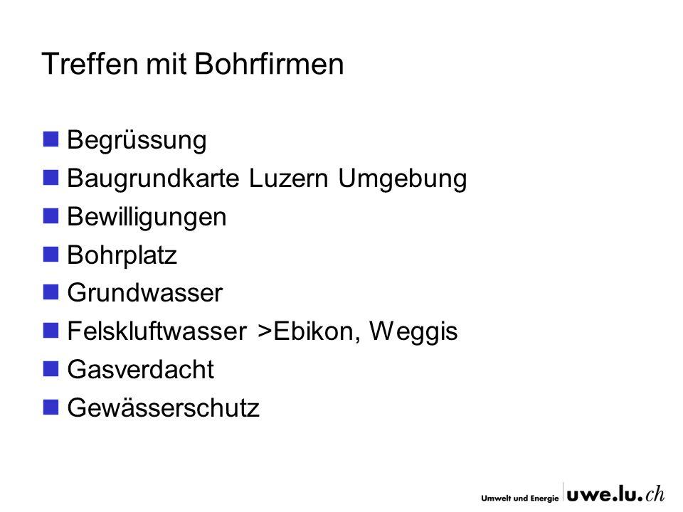 Treffen mit Bohrfirmen