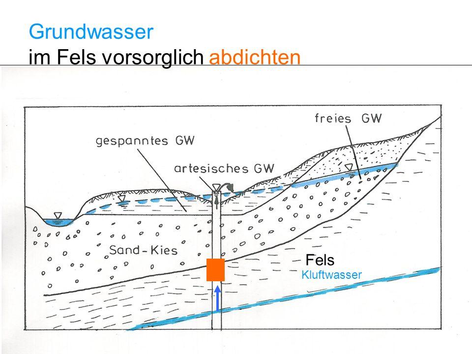 Grundwasser im Fels vorsorglich abdichten