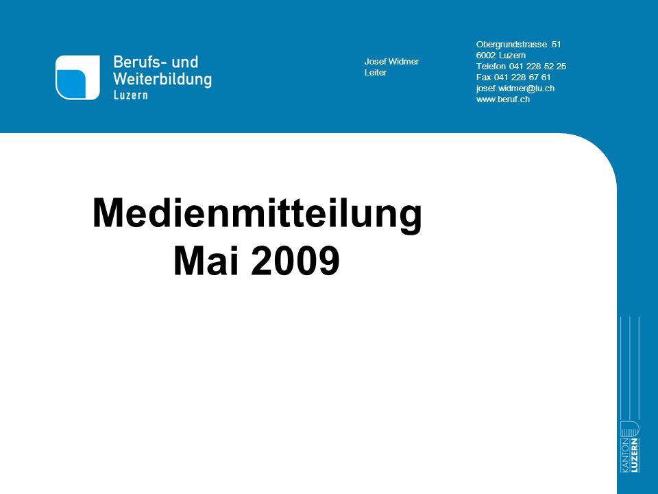 Haupttitel Medienmitteilung Mai 2009 Thema 1 > Thema 5