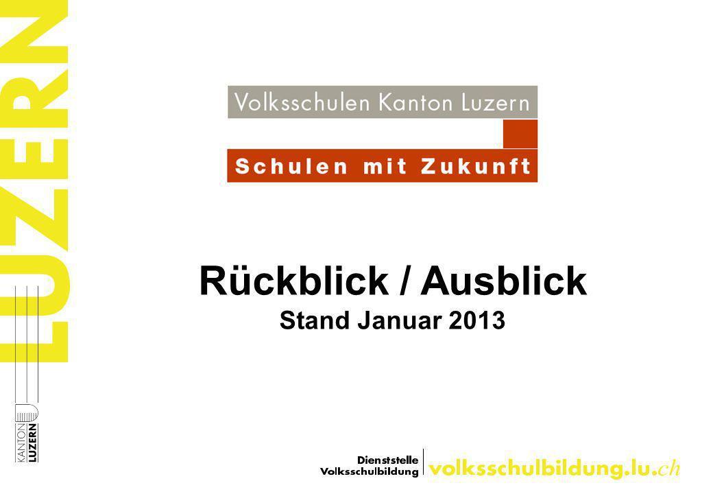 Rückblick / Ausblick Stand Januar 2013