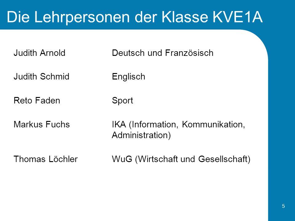 Die Lehrpersonen der Klasse KVE1A