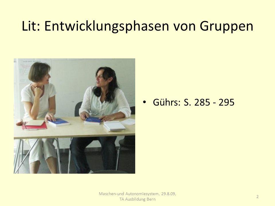 Lit: Entwicklungsphasen von Gruppen