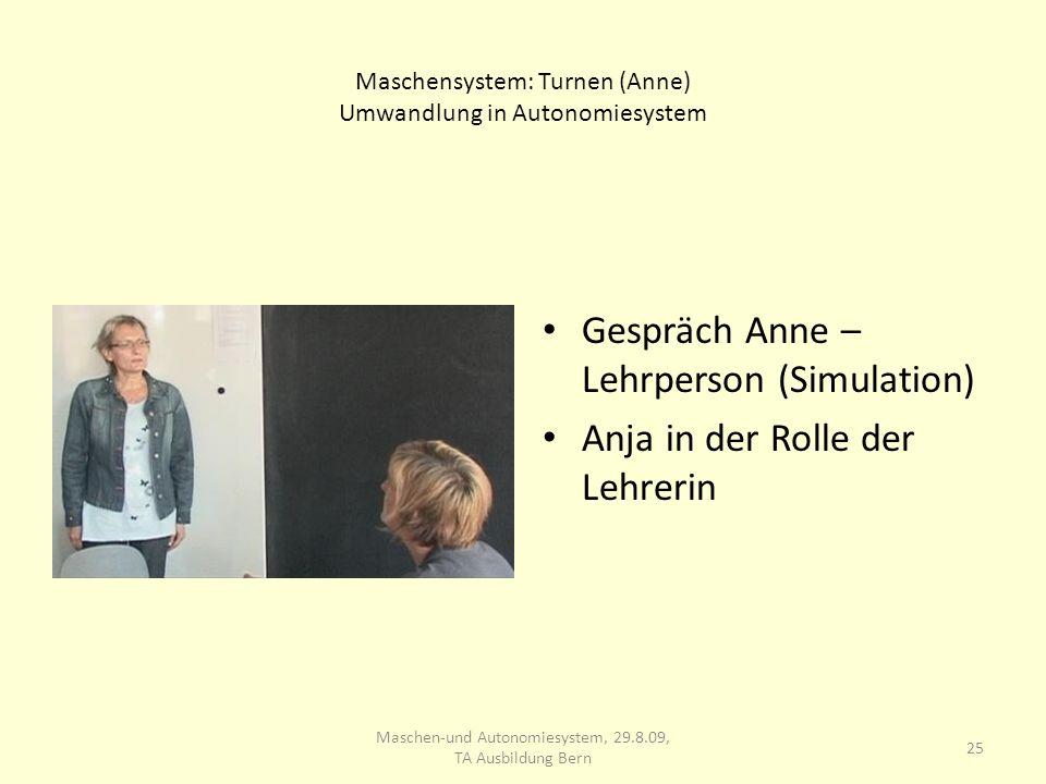 Maschensystem: Turnen (Anne) Umwandlung in Autonomiesystem