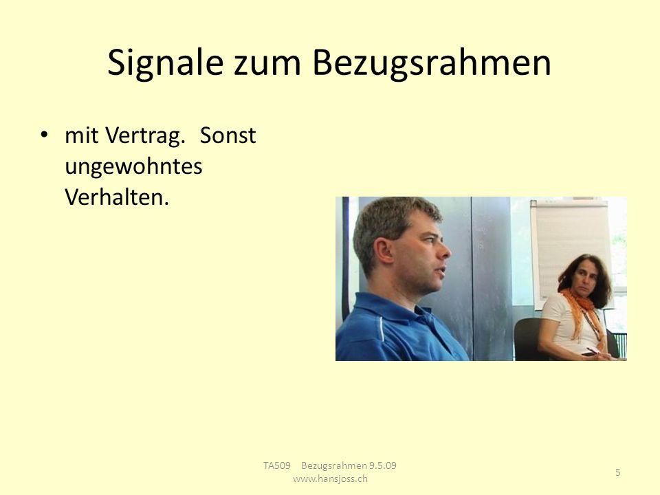 Signale zum Bezugsrahmen