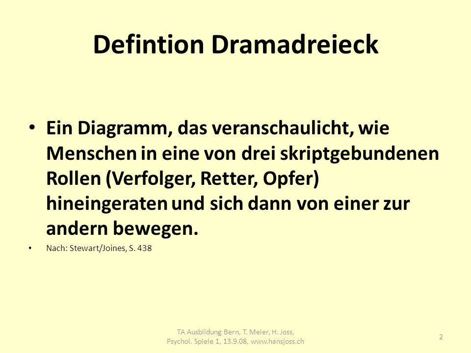 Defintion Dramadreieck