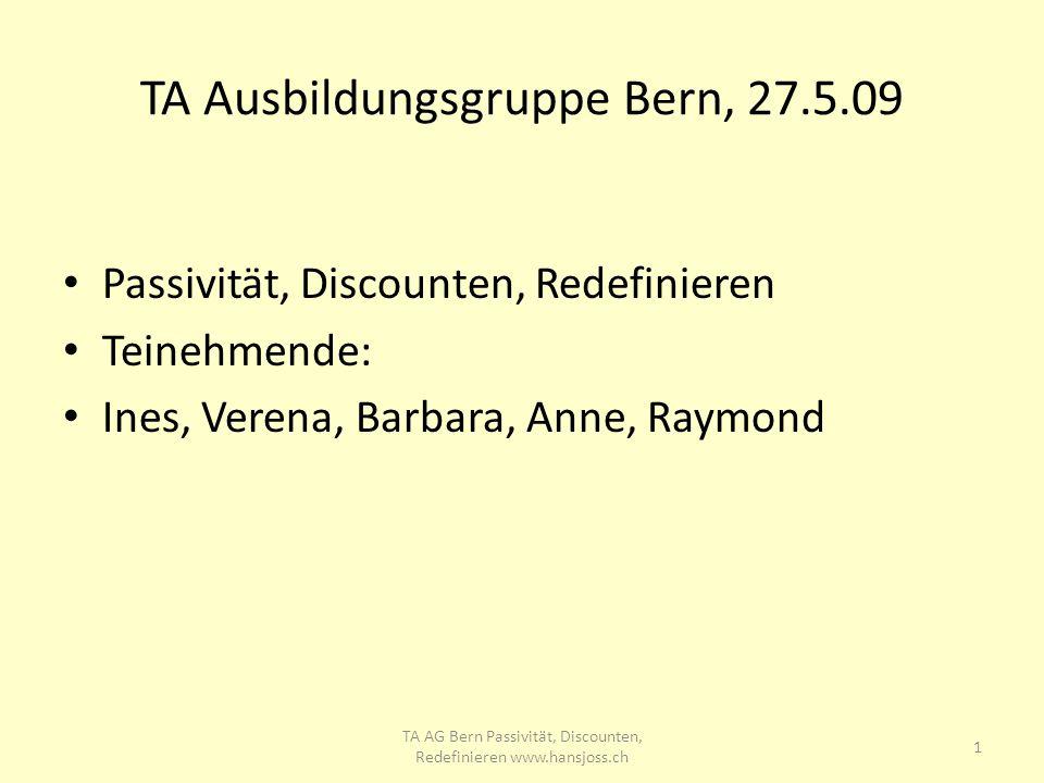 TA Ausbildungsgruppe Bern, 27.5.09