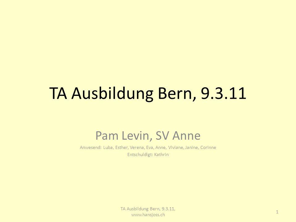 TA Ausbildung Bern, 9.3.11 Pam Levin, SV Anne