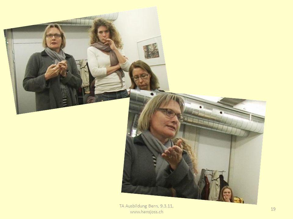 TA Ausbildung Bern, 9.3.11, www.hansjoss.ch
