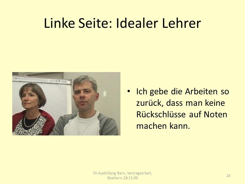 Linke Seite: Idealer Lehrer