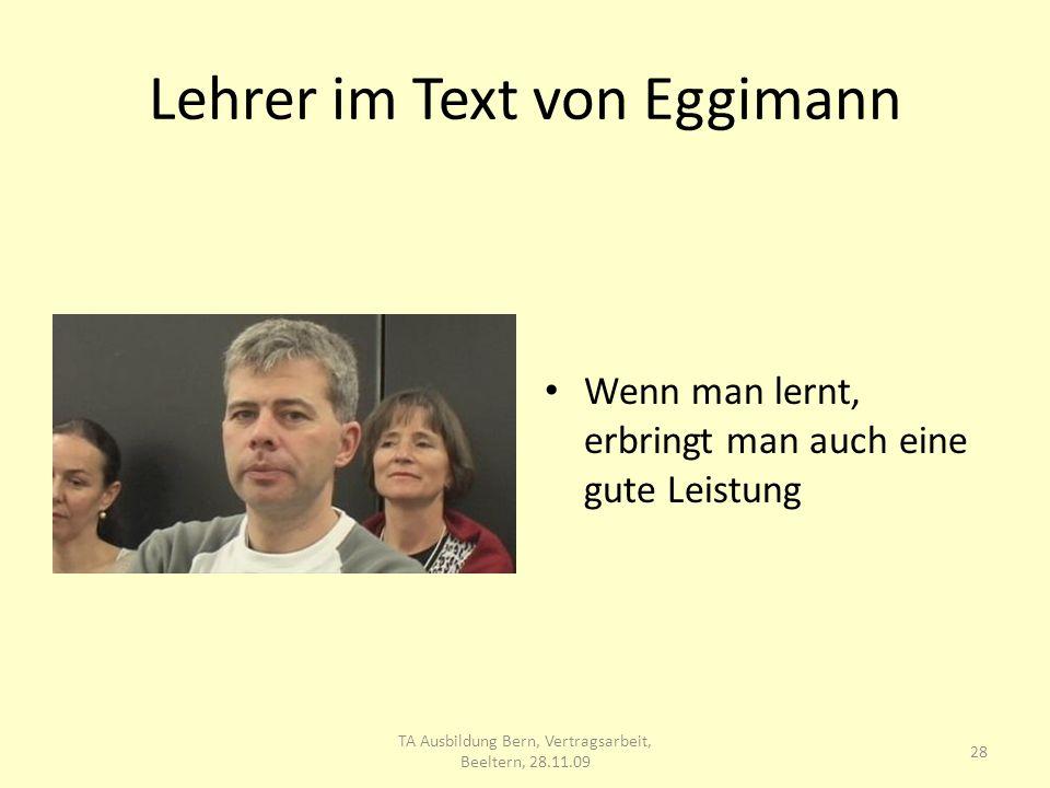 Lehrer im Text von Eggimann