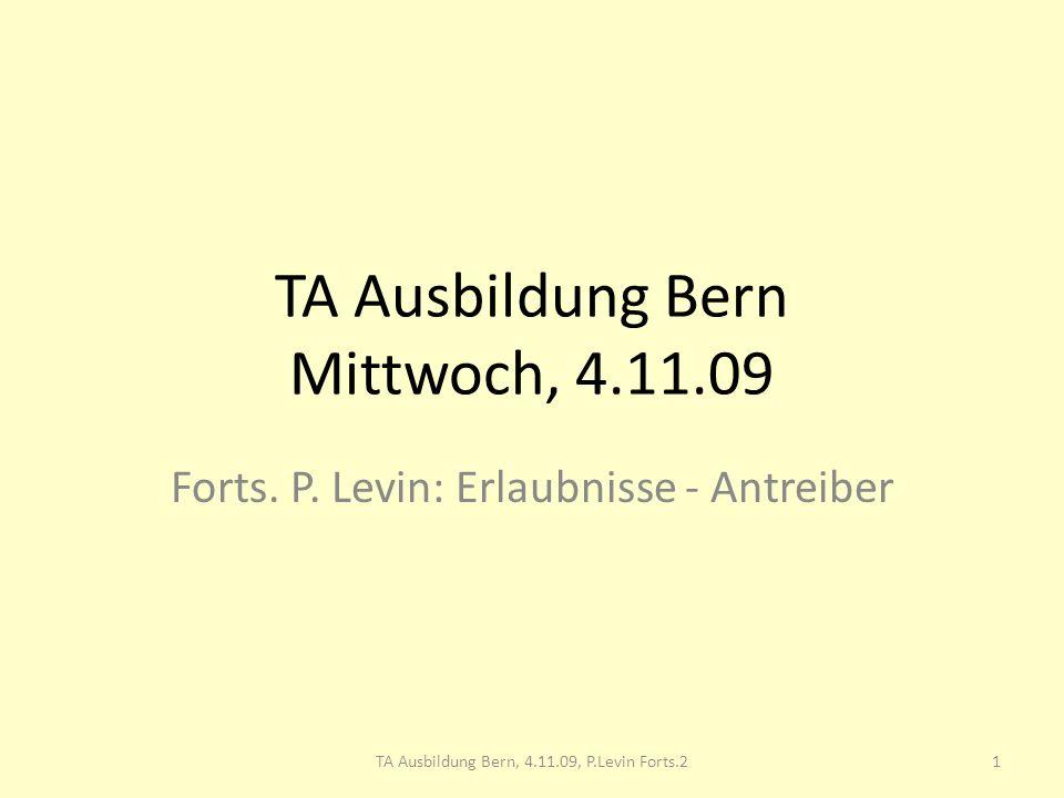 TA Ausbildung Bern Mittwoch, 4.11.09