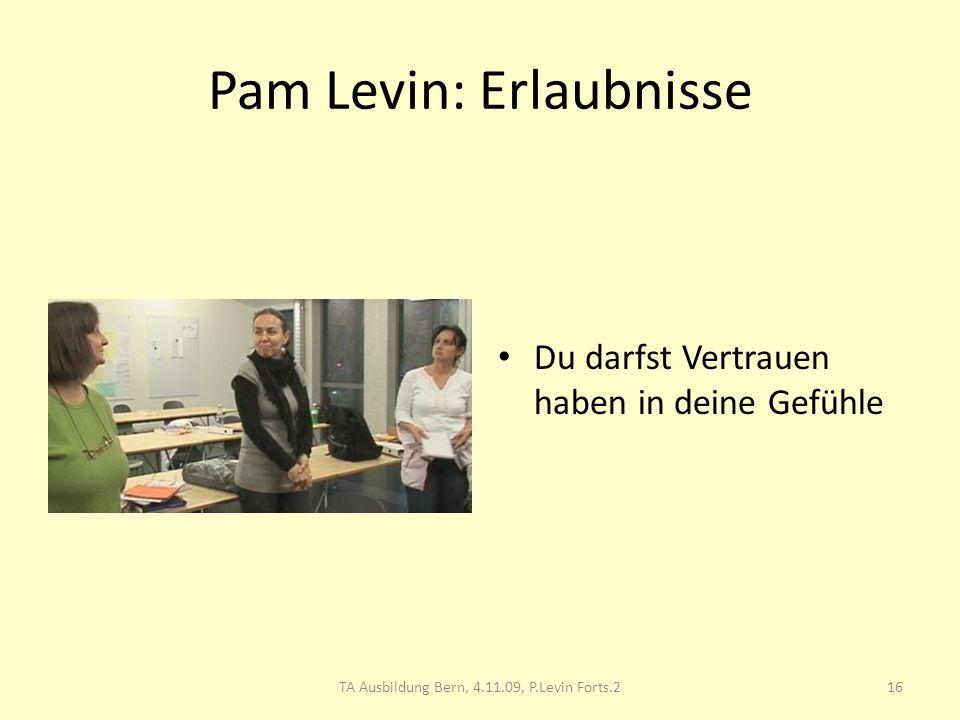 Pam Levin: Erlaubnisse