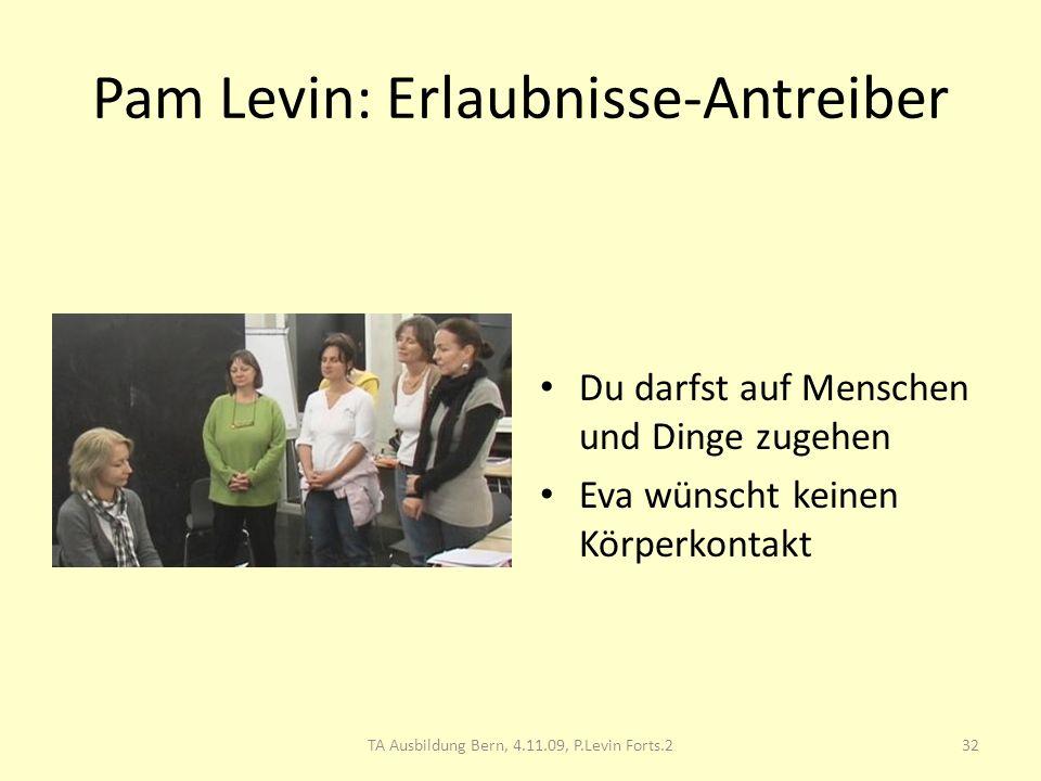 Pam Levin: Erlaubnisse-Antreiber
