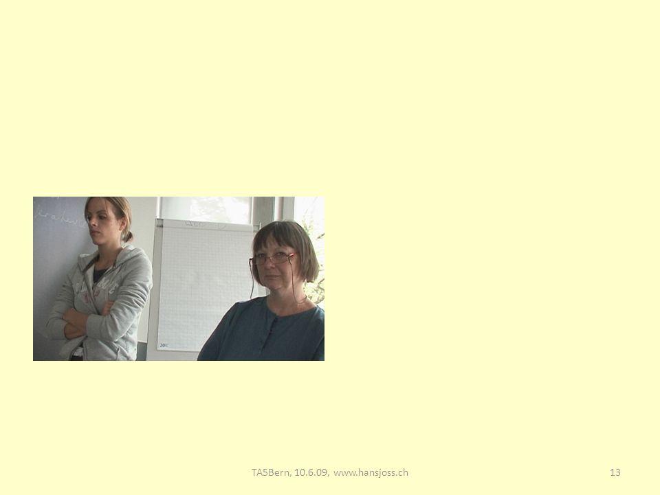 TA5 Bern, 10.6.09: Supervision 28.03.2017 TA5Bern, 10.6.09, www.hansjoss.ch www.hansjosss.ch