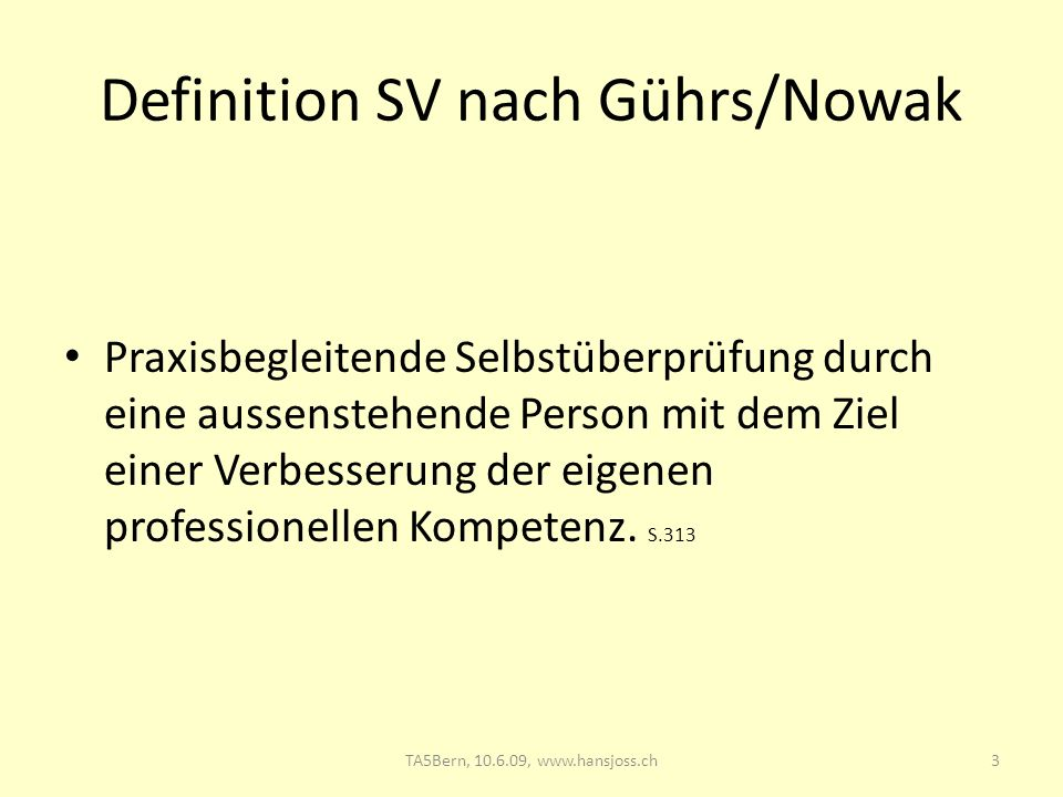 Definition SV nach Gührs/Nowak
