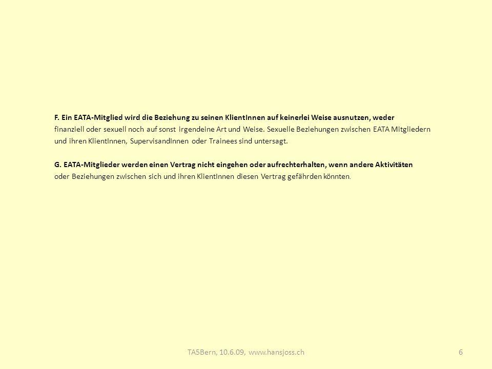 TA5 Bern, 10.6.09: Supervision 28.03.2017.