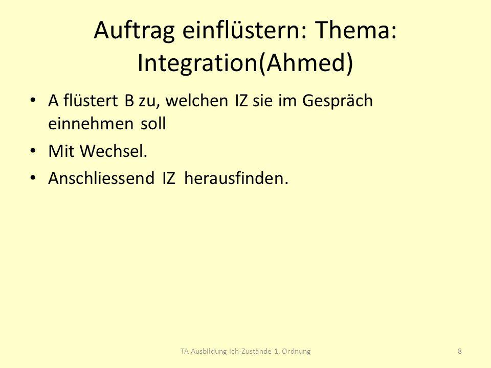 Auftrag einflüstern: Thema: Integration(Ahmed)