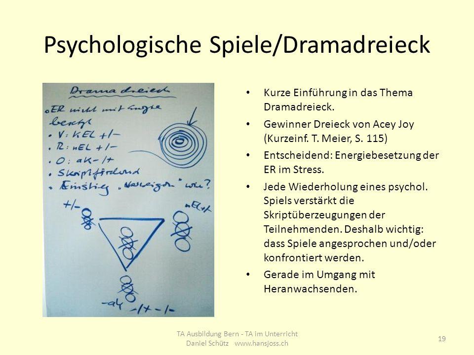 Psychologische Spiele/Dramadreieck
