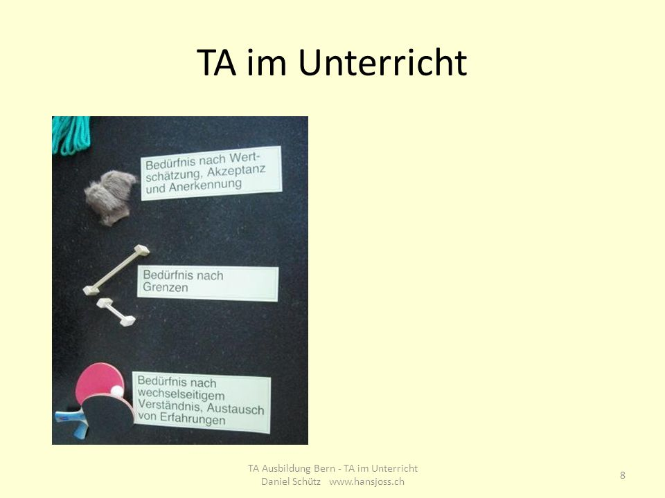 TA Ausbildung Bern T. Meier, H. Joss